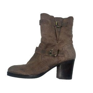 Crown Vintage Brown Suede Ankle Boots Size 6.5 US